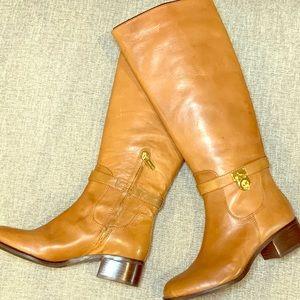 NWOT Michael Kors Hamilton Lock Riding Boots